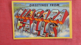 Greetings  Niagara Falls  Ref 2710 - NY - New York