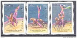 2009. Uzbekistan, Circus, Horsewomans, 3v, Mint/** - Uzbekistan