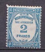 N° 61 Taxes: 2 Francs Bleu : Très Beau Timbre Neuf Impeccable Sans Charnière Bon Centrage Gomme D'origine - Taxes