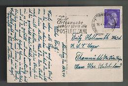1944 Nuremburg Germany Postcard Cover To Kinder Land Verschickung Lager KLV - Unclassified