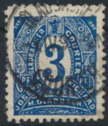 Privatpostmarke - Mönchengladbach  7 B - 3 Pf Dunkelblau Ziffer Im Oval Gest. - Private