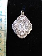 Pendentif Religieux En Argent Calice, Fait Main, Vers 1900 - Colgantes