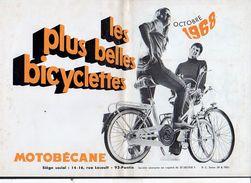 """Publicité 1968./ Les Plus Belles Bicyclettes """"Motobécane"""" à Pantin 93 - Publicités"""