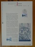 Rattachement De La Savoie Document Officiel FDC Folder 2010 With Proof And Stamp - FDC