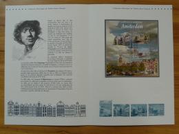 Capitales Européennes Amsterdam Pont Bridge Rembrandt Document Officiel FDC Folder 2016 With Proof And Stamp - Monuments