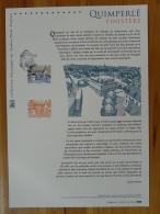 Quimperlé 29 Finistère Pont Médiéval Bridge Document Officiel FDC Folder 2016 With Proof And Stamp - Postdokumente