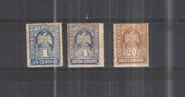 Messico PO 1914 Stemmi .Scott.354+356+359 N.3 Valori +   Usati/Nuovi  See Scan - Mexique