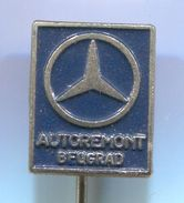 MERCEDES BENZ - Autoremont Belgrade Serbia, Car, Auto, Automotive, Vintage Pin Badge, Abzeichen - Mercedes