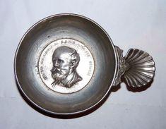 RAR VINTAGE TASTEVIN TASTE-VIN ETAIN Pewter PORTRAIT GEORGE LECLANCHE 1839 /82 - Stagno