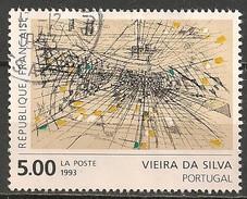 Timbres - France - 1993 - N° 2835 - VIEIRA DA SILVA - PORTUGAL - - Francia