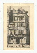 Cp , 76 , Restaurant LE BUCHER , 76 , ROUEN , Place Du Vieux Marché, écrite - Hotels & Restaurants