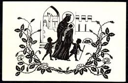 A7500 - Alte Künstlerkarte - Scherenschnitt Silhouette - Adalbert Mayrhofer - Flucht Aus Der Wartburg - Die Heilige Elis - Silhouettes