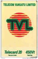 Vanuatu (ex Hebrides) Telecarte Phonecard Mobilis Liberte TVL 20 Un. Telecom 450 Vatu Plastifiee Et Fine, TBE - Vanuatu
