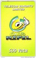 Vanuatu (Hebrides) Telecarte Mobilis Rifil Phonecard  SourireTelecom Vanuatu Limited (TVL), Ut, Tres Bon Etat, 500 Vt - Vanuatu