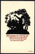 A7510 - Alte Künstlerkarte - Scherenschnitt Silhouette - Georg Plischke P 601 - Silhouettes