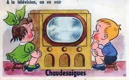 Carte à Système De Chaudes-Aigues. Illustrateur Bozz. - France
