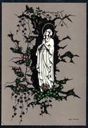 A7517 - Alte Künstlerkarte - Scherenschnitt Silhouette - Josefine Allmayer - Selbstverlag Nr. 190 - Silhouettes