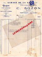 79- PARTHENAY-GARAGE AUTOMOBILE DE LA GARE- C. BOZON-MECANICIEN-48 AV. GARE- PEUGEOT-1950 - Cars