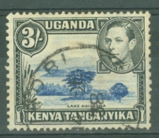 K.U.T.: 1938/54   KGVI    SG147    3/-  Dull Ultramarine & Black  [Perf: 13 X 11¾]   Used - Kenya, Uganda & Tanganyika