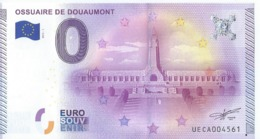 2015 BILLET TOURISTIQUE 0 Euro  Ossuaire De Douaumont    Dpt 55  Numero Aleatoire - EURO