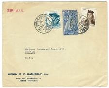 Portugal // Lettre Pour La Suisse Le 23 Mai 1947 - 1910-... République