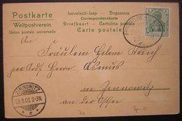 1902 Deutsches Reich Bahnpost Arnswalde Glasow (Choszczno Poland) Cachet De Zinnowitz - Germany