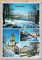 Jo191 BRATISLAVA Dunajské Nábrežie Foto P.Paul J. CENEK Multivues Sous La Neige Slovaquie 1990s - Slovacchia