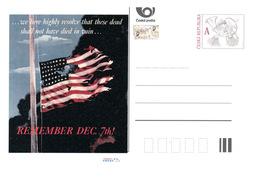 Tschech. Rep. / Ganzsachen (Pre2016/56) WW2 - 7. Dezember 1941 Pearl Harbor (75. Jahrestag) - Flaggen
