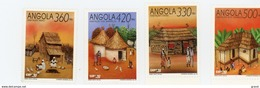 Angola--1992-Expo De Séville-Habitat Indigène-858/91***MNH - Angola