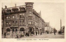 CPA - SAINT-LOUIS (68) - Aspect De L'Hôtel John Et De La Rue De Huningue En 1934 - Saint Louis