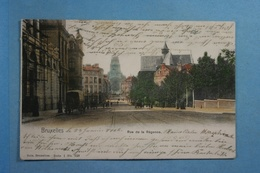 Bruxelles Rue De La Régence (colorisée) - Avenues, Boulevards