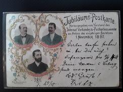 Jubilaums Postkarte -  Postkartensammler  Rare  Jubilé Anniversaire 1 NOVEMBER 1897 Allemagne - Deutschland