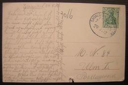 1912 Deutsches Reich Bahnpost Gau-Algesheim Voir Photos - Allemagne