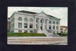 73132    Stati  Uniti,   Eau Claire Public  Library,  Eau  Claire,  Wis.,  NV(scritta) - Eau Claire
