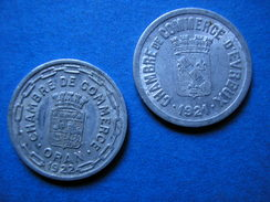 RFRA152 TOKEN / 2 JETONS ORAN 1922 EVREUX 1924 - Monetary / Of Necessity