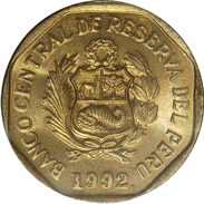 PEROU - PERU - BANCO CENTRAL DE RESERVA DEL PEU - 10 CENTIMOS (1992) - Perú