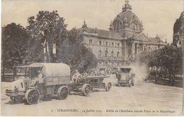 Strasbourg - 14 Juillet 1919 - Défilé De L'Artillerie Lourde Place De La République - Strasbourg