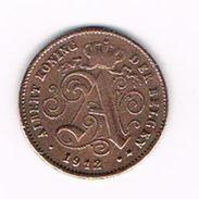 )  ALBERT I   1 CENTIEM   1912  VL - 1909-1934: Albert I