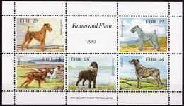 1983, Irland, 510/14 Block 4, Irische Hunde, MNH **. - Blocks & Sheetlets