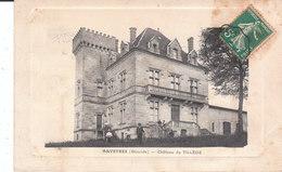 CPA ARVEYRES (33) CHÂTEAU DE TILLEDE - ANIMEE (ECRITE AU CHEF DE GARE De SAILLAT - HAUTE-VIENNE) - Autres Communes