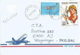 Centrafrique RCA CAR 2000 Bangui Mpoko Tennis Boris Becker Saint Exupery Aviator Cover - Centraal-Afrikaanse Republiek