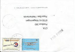 Centrafrique RCA CAR 2001 Bangui Mpoko EMS 405f Saint Exupery Aviator Cover - Centraal-Afrikaanse Republiek