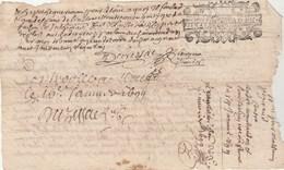 Cachet Généralité Limoges 16/1/1699 Huit Deniers - Haute Vienne Magnac, St Maurice, Vitrat  Généalogie Montaudon Peyraud - Manuscripts