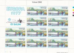 Malta 1977 Europa CEPT Souvenir Sheet - MNH/**  (H26) - Europa-CEPT