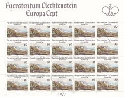 Liechtenstein 1977 Europa CEPT Souvenir Sheet - MNH/**  (H26) - Europa-CEPT