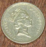 ROYAUME UNI - GRANDE BRETAGNE - ONE POUND (1987) - 1971-… : Monnaies Décimales