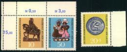 1969, Lausitzer Volkskunst Postfisch Komplett, Zusammendruck Mit Leerfeld. - Ungebraucht