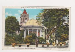 Panama City  -- Santa Ana Church And Park -- Coin Plié - Panama