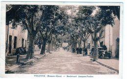 Carte Postale De Volonne - Boulevard Jacques-paulon - - Frankreich
