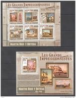 J440 2009 UNION DES COMORES ART MARTIN RICO Y ORTEGA  1KB+1BL MNH - Impressionismo